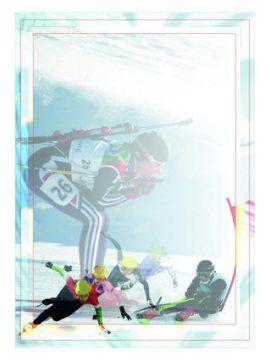 Diplom papierový - zimný šport /84/