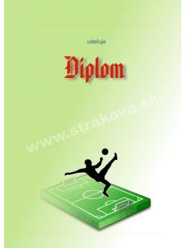 Diplom papierový - futbal /DP3/