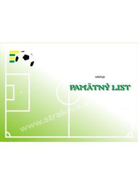 Pamätný list - futbal /DP7/