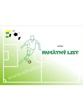 Pamätný list - futbal /DP8/