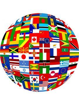 Ostatné vlájky sveta - zošívané /V1007/