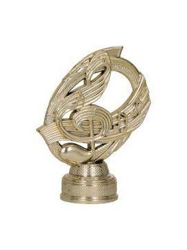 Figurína - hudba  - husľový kľuč /B313/G/